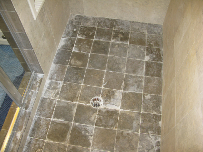 shower-stone-clean-polish-before