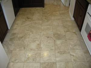 Kitchen Marble Floor Restoration